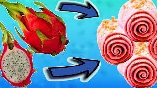 Как Сделать Ролл Мороженое из Экзотических Фруктов. Тайское или Жареное Мороженое Своими Руками