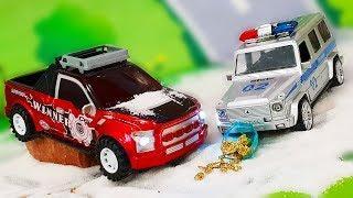 Мультики про машинки. Видео игра про Полицейские машинки - Поиски клада. Мультфильмы для детей