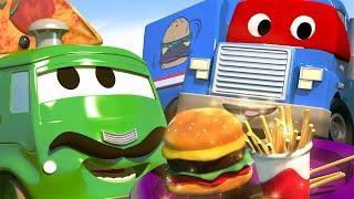 Детские мультфильмы с грузовиками - Грузовик с продуктами спасает ужин!