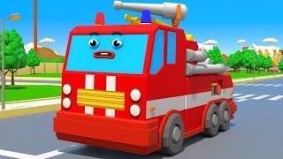 Пожарная машинка спасает Трактор - Городок Машинок - Мультфильмы для детей