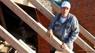 Монтаж крыши дома: крепление стропил к мауэрлату, хребту и балкам, как сделать запил своими руками
