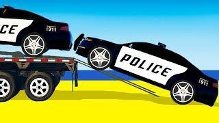 Мультики про машинки Цветные Машинки Автовоз и Полицейская машина для малышей Мультфильмы для детей