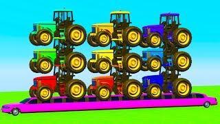 Мультики про Машинки для детей Тракторы и Цветные Машинки Мультфильмы для детей