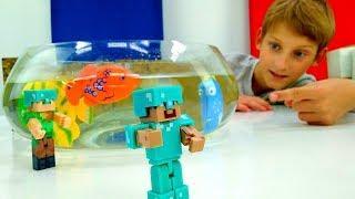 Видео Майнкрафт – Как сделать аквариум в Minecraft? – Обзор игры.