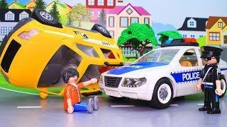 Мультики для детей с игрушками Плеймобил! Полицейские машинки! Развивающие мультфильмы
