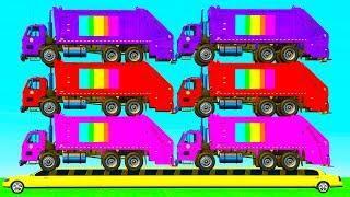 Мультики про Машинки для детей Мусоровозы и Цветные Машинки Мультфильмы для детей