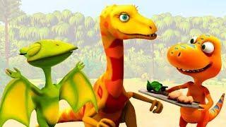 Мультик про Поезд Динозавров. Путешествие Бадди в гости к Дейнонихам!