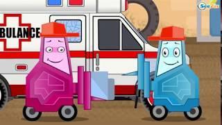 Мультики про МАШИНКИ Скорая Помощь и Гоночная Машина  Развивающие мультфильмы для детей