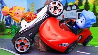 Видео для детей с игрушками. Про спорт! Мультфильмы