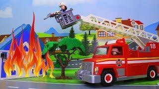 Мультики с игрушками – Пожарная машина для детей! Развивающие мультфильмы про машинки
