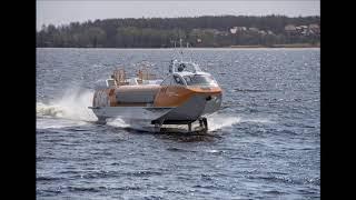 Спустили на воду второе из серии речных пассажирских судов на подводных крыльях  Валдай 45Р