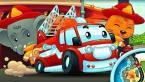 Мультфильмы про машинки для детей  Пожарная машина Автопатруль Банди и Даша  Мультик для детей