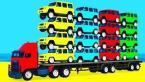 Мультики про машинки Цветные Грузовики и Джипы для малышей Учим Цвета и Цифры Мультфильмы для детей