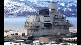 Тяжелый авианесущий крейсер  Адмирал флота Советского Союза Кузнецов  у причала  35 СРЗ  г  Мурманск