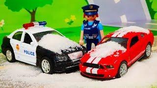 Мультики про машинки. Играем в полицейские машинки в мультике - Опасная дорога. ЛЕГО мультфильмы