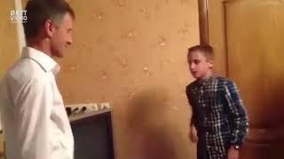 Сын зачитал папе на день рождения!
