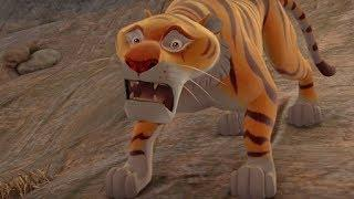 Маугли - Книга Джунглей - Следы –развивающий мультфильм для детей HD