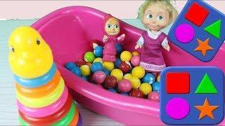 Маша Учит Цвета Разноцветная Пирамида Учим Цвета Познавательное Детское Видео