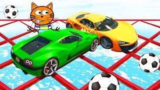 ГОНКИ ДРИФТ Кота Барбоса ! Мультики про машинки - Мультфильмы для мальчиков cars for kids