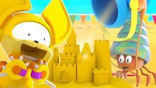 Животные Механика | EP 5: Таинственный замок из песка | Мультфильмы для детей | WildBrain