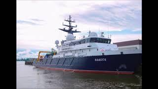 Начались испытания головного опытового судна  Ладога  проекта 11982