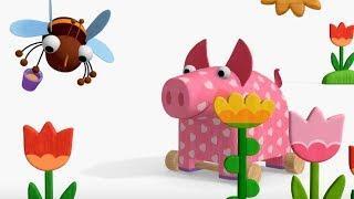 Деревяшки - Мёд +Птичка  - развивающие мультфильмы для самых маленьких  0-4