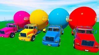 Мультики про машинки Цветные Машинки и Грузовики для детей Мультфильмы для малышей