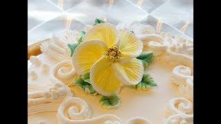 КАК СДЕЛАТЬ ТРОПИЧЕСКИЙ ЦВЕТОК ИЗ КРЕМА, how to make a cream flower
