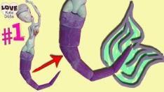 #1 Как сделать гибкий ХВОСТ РУСАЛКИ для куклы Монстер Хай по принципу БЖД