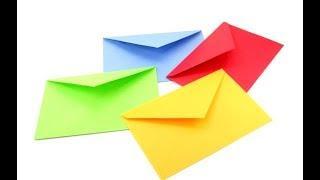 Как сделать конверт из бумаги а4 своими руками. Оригами из листа.