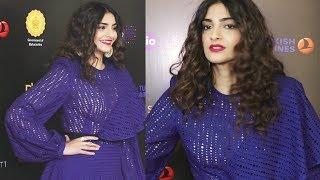 Sonam Kapoor Hot In Net Dress At Jio Mami Film Festival 2018