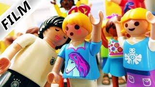 Playmobil Film Deutsch HUMMELS KÜSST HANNAH! FUSSBALLSTAR IN DER GRUNDSCHULE - Familie Vogel