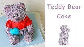 Как сделать кремовый 3Д торт медведь. Одежда для мишки тедди / Cake 3D cream teddy bear