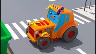Трактор и Монстр Трак играют с Шариками - Городок Машинок - Мультфильмы для детей