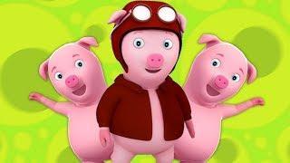 эта маленькая поросенок рифмы | This Little Piggy | Kids Baby Club Russia | Мультфильмы для детей