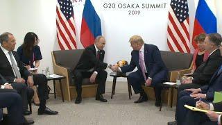 """Американский юмор: """"Не вмешивайтесь в выборы"""" - пошутил Трамп на встрече с Путиным"""