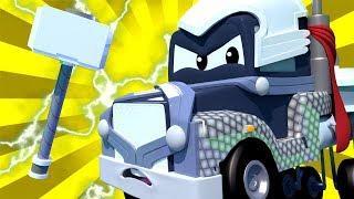 Спецвыпуск Мстители - Карл Тор - Трансформер Карл в Автомобильный Город