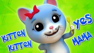 Киттен Киттен да мама | Мультфильмы для детей | Kitten Kitten Yes Mama | Kids Baby Club Russia