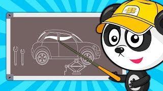 Мультики про Машинки – Ремонт Машины: Биби Меняет Колесо – Развивающий Мультик для Детей