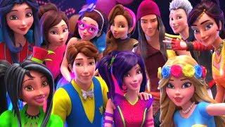 Наследники - Недобрый мир - Бал неоновых огней | мультфильм Disney
