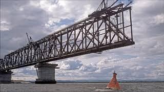 Россия и Китай соединили две части первого моста через Амур