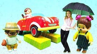 Мультики для детей — Мультфильмы обезьянки — Мончичи намокли под дождем