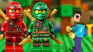 НИНДЗЯГО vs МАЙНКРАФТ и Лего НУБик Майнкрафт Мультфильмы для Детей - LEGO Animation