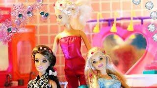 СТРАЗЫ В МОДЕ / БАРБИ И ТЕРЕЗА В САЛОНЕ КРАСОТЫ /Мультфильмы с куклами