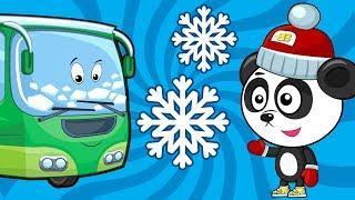 Рзвивающие Мультики Про Машинки – Меняем Колеса у Автобуса – Песенка Для Детей под Новый Год
