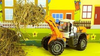 Мультики про Машинки Трактор играет в Городе Мультфильмы для детей
