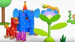 Деревяшки - Считалочка  + Бабочка - развивающие мультфильмы для самых маленьких  0-4
