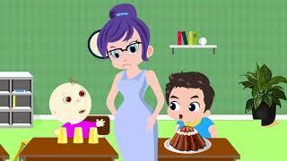 Johny Johny And My Friend  Забавные мультфильмы Sun & Moon  - Образовательное видео для детей