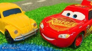 Мультики про Машинки Тачки Молния Маквин Мультфильмы с Игрушками Видео для Детей