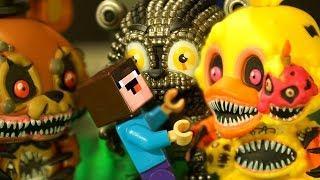 Пять Ночей с Фредди ЧЕЛЛЕНДЖ и Лего НУБик Мультики Майнкрафт - LEGO FNAF Minecraft Мультфильмы